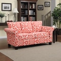 Portfolio Provant Flared Arm Sunrise Red Medallion Sofa
