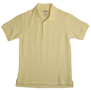 French Toast Children's Short Sleeve Pique Yellow Polo Shirt
