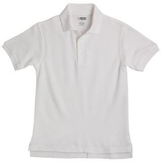 French Toast Children's Short Sleeve Pique White Polo Shirt