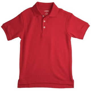 French Toast Children's Short Sleeve Pique Red Polo Shirt