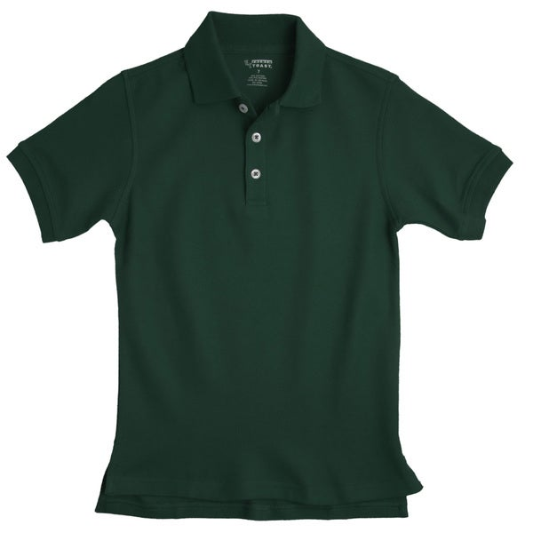 French Toast Children's Short Sleeve Pique Green Polo Shirt