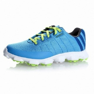 Adidas Men's Crossflex Cyan/White/ Slime Golf Shoes