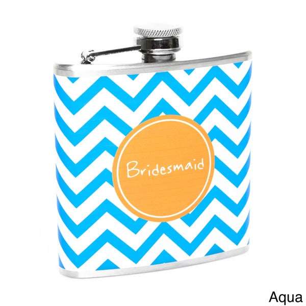 Chevron Bridesmaid Flask