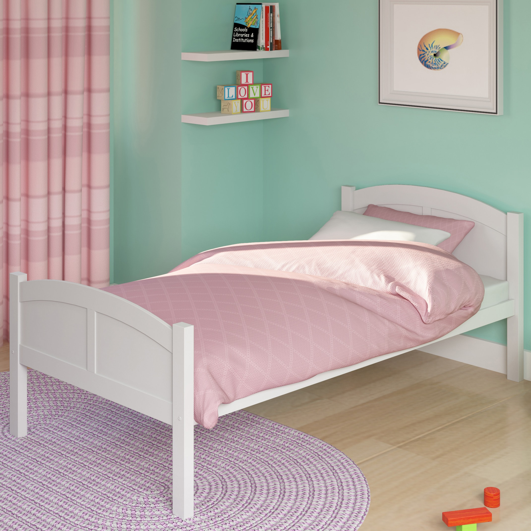 CorLiving Concordia White Wood Single Bed at Sears.com