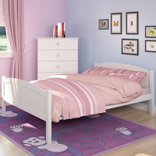 CorLiving Concordia White Solid Wood Double Bed