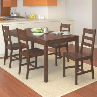 CorLiving DTC-874-T Brown Stained 5-piece Kitchen Set