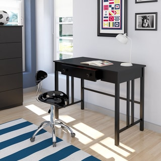 Corliving D-002-LPL Black Workspace Desk with Drawer