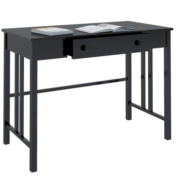 Corliving D-002-LPL Black Workspace Desk with Drawer