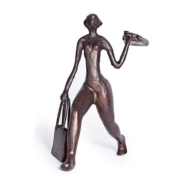 Shopaholic Woman Aluminum Figure