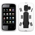 BasAcc Black/ White Protector Case with stand for Huawei Fusion2 U8665