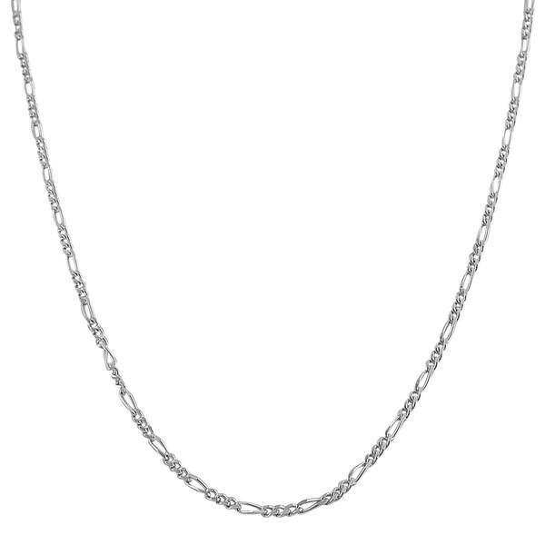 Fremada Sterling Silver 1.7-mm Slim Figaro Chain (16-30 inch)