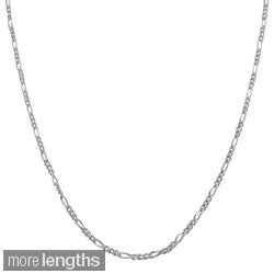 Fremada Sterling Silver 1.7-mm Slim Figaro Chain (16-30 inch)