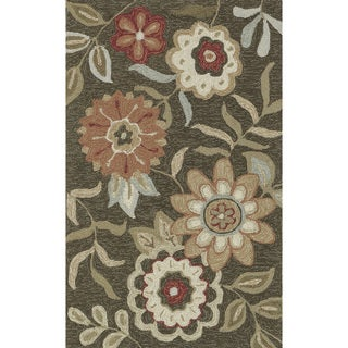 Hand-hooked Charlotte Brown Rug (2'3 x 3'9)