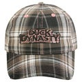 Duck Dynasty Black Plaid Adjustable Hat