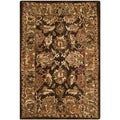 Safavieh Hand-made Anatolia Dark Brown/ Gold Wool Rug (2' x 3')