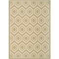 Safavieh Indoor/ Outdoor Courtyard Contemporary Green/ Beige Rug (8' x 11')