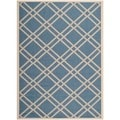Safavieh Indoor/ Outdoor Courtyard Blue/ Beige Rug (8' x 11')