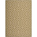 Safavieh Indoor/ Outdoor Courtyard Green/ Beige Area Rug (8' x 11')