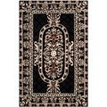 Safavieh Hand-made Naples Black Wool Rug (4' x 6')