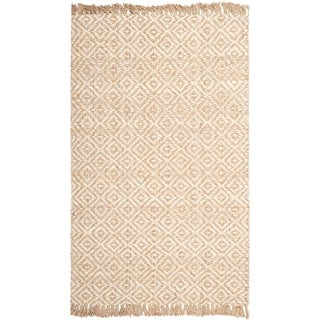 Safavieh Hand-woven Sisal Style Natural/ Ivory Jute Rug (6' x 9')