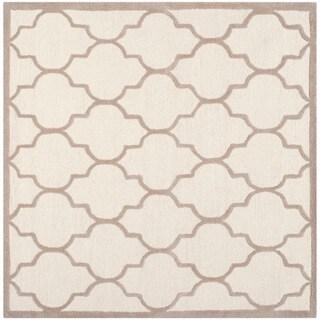 Safavieh Handmade Moroccan Cambridge Ivory/ Beige Wool Area Rug (8' Square)