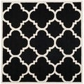 Safavieh Handmade Moroccan Cambridge Black/ Ivory Wool Rug (6' Square)