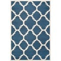 Safavieh Contemporary Handmade Moroccan Cambridge Navy/ Ivory Wool Rug (10' x 14')