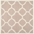 Safavieh Handmade Moroccan Cambridge Beige/ Ivory Geometric Wool Rug (6' Square)