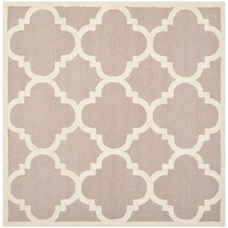 Safavieh Handmade Moroccan Cambridge Beige/ Ivory Wool Area Rug (8' Square)