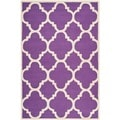 Safavieh Handmade Moroccan Cambridge Purple/ Ivory Wool Rug (6' x 9')