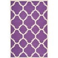 Safavieh Handmade Moroccan Cambridge Purple/ Ivory Wool Rug (8' x 10')