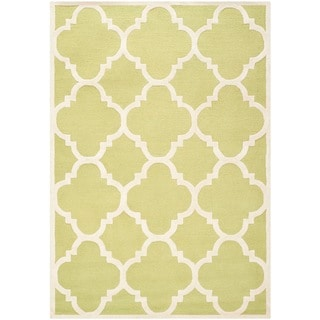 Safavieh Handmade Moroccan Cambridge Green/ Ivory Wool Rug (8' x 10')