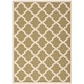 Safavieh Indoor/ Outdoor Courtyard Contemporary Green/ Beige Rug (5'3'' x 7'7'')