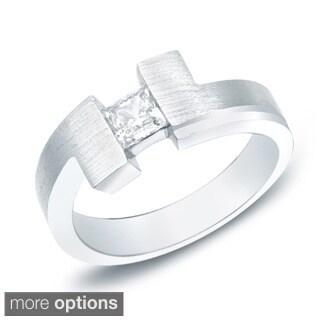 Auriya 14k White or Yellow Gold Men's 1/2ct TDW Diamond Satin Ring (H-I, SI1-SI2)