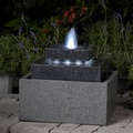Square Shape with LED Lights Indoor/ Outdoor Water Fountain