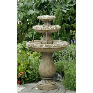 Three Tiers Outdoor Water Fountain