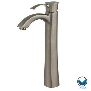 VIGO Otis Brushed Nickel Vessel Faucet