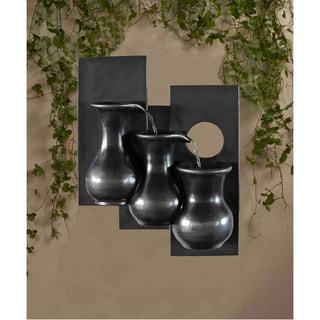 Three Jugs Gunmetal Hanging Wall Fountain