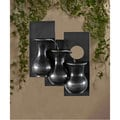Three Jugs Gunmetal Hanging Wall Fountain