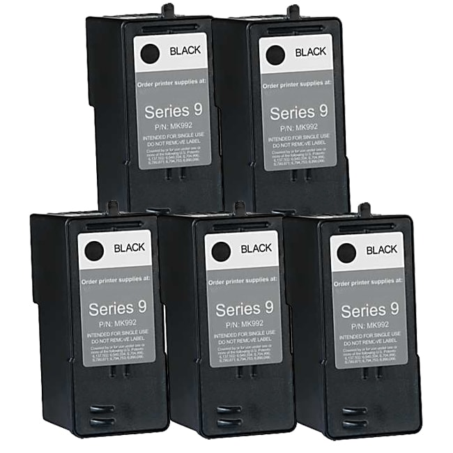 Dell MK992 (Series 9) High-Capacity Black Ink Cartridge (Pack of 5)