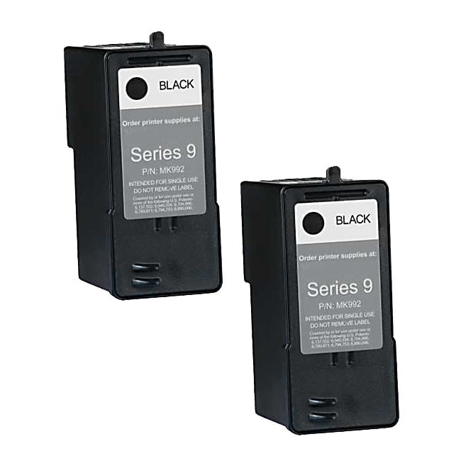Dell MK992 (Series 9) High-Capacity Black Ink Cartridge (Pack of 2)