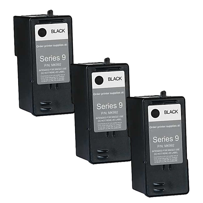 Dell MK992 (Series 9) High-Capacity Black Ink Cartridge (Pack of 3)