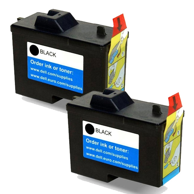 Dell X0502 / 7Y743 (Series 2) Black Compatible Inkjet Cartridge (Pack of 2)