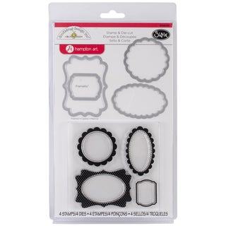 Sizzix Framelits Dies 4/Pkg With Clear Stamps By Doodlebug-Frames