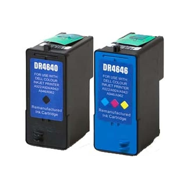 Dell M4640+M4646 (Series 5) Black+Color High Yield Compatible Inkjet Cartridge (Pack of 2)