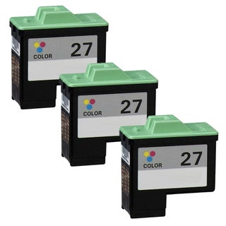 Lexmark #27 (10N0227) Color Compatible Ink Cartridge (Pack of 3)