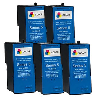 Dell M4646 (Series 5) Color High Yield Compatible Inkjet Cartridge (Pack of 5)