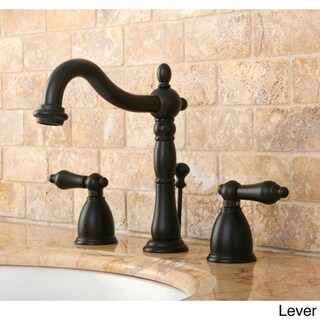 Victorian Widespread Oil Rubbed Bronze Bathroom Faucet