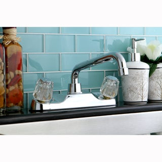 Chrome Basic Two-Handle Kitchen Faucet