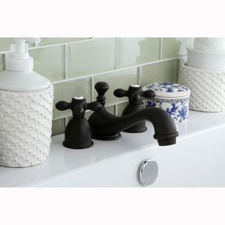 Mini-Widespread Oil Rubbed Bronze Bathroom Faucet